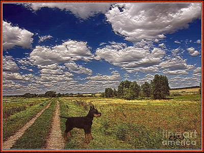 Puppies Mixed Media - Lonely In The Field by Pemaro