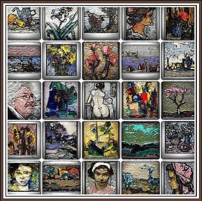 Post Impressionism Mixed Media - Panorama Digital Graphics 1 by Pemaro