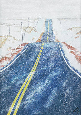 Pastel - Lonesome Highway by Garry McMichael