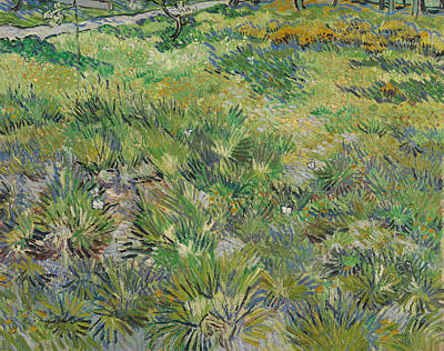 Floral Painting - Long Grass With Butterflies by Vincent van Gogh