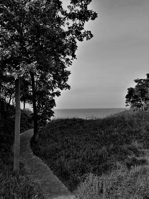Photograph - Long Island Sound B W by Rob Hans