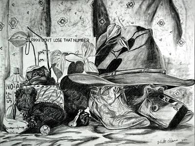 Houseplants Drawing - Long Lost Weekends by Walter Idema