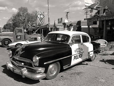 Police Art Photograph - Long Retired Monochrome by Gordon Beck