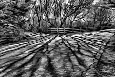 Impressionism Digital Art - Long Shadows by Lilia D