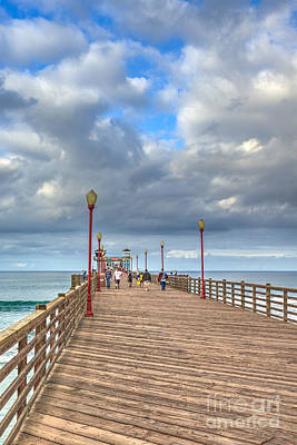 Photograph - Long Walk Short Pier by David Zanzinger