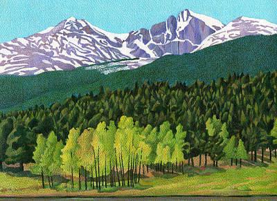 Drawing - Longs Peak by Dan Miller