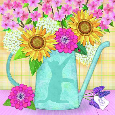 Digital Art - Looking For Spring by Valerie Drake Lesiak