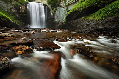 Blue Ridge Parkway Photograph - Looking Glass Falls by Andrew Soundarajan