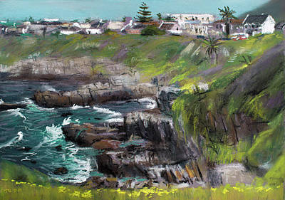 Painting - Looking Toward Westcliff, Hermanus by Christopher Reid