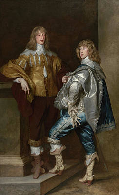 Siblings Painting - Lord John Stuart And His Brother, Lord Bernard Stuart by Anthony van Dyck