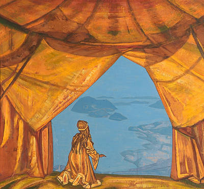 Peaceful Scene Painting - Lord Of The Night by Nicholas Roerich