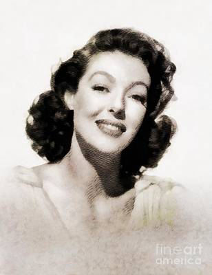 Loretta Young, Vintage Actress By John Springfield Art Print