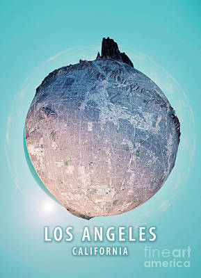 Los Angeles 3d Little Planet 360-degree Sphere Panorama Art Print