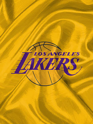 Los Angeles Lakers Digital Art - Los Angeles Lakers by Afterdarkness