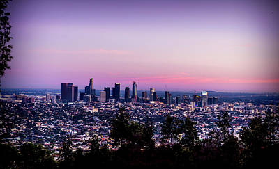 Photograph - Los Angeles Skyline At Dusk by Gene Parks