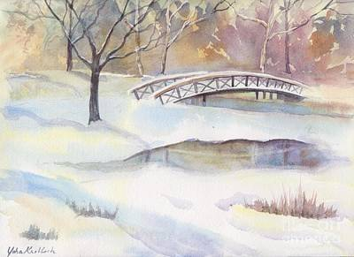 Painting - Lost Lagoon Bridge by Yohana Knobloch