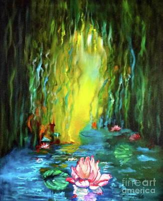 Lotus And Lily Pads Art Print