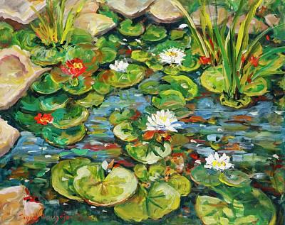 Painting - Lotus Pond by Ingrid Dohm