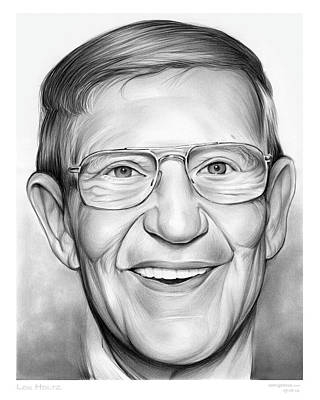 Coaching Drawing - Lou Holtz by Greg Joens