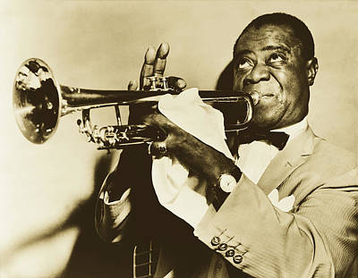 Photograph - Louis Armstrong 1952 by Library Of Congress