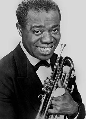 Armstrong Photograph - Louis Armstrong by American School