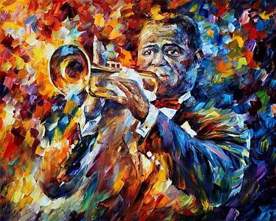Louis Armstrong Art Print by Leonid Afremov