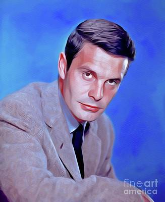 Royalty-Free and Rights-Managed Images - Louis Jourdan, Vintage Movie Star by Esoterica Art Agency