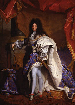 Painting - Louis Xiv, King Of France  by Hyacinthe Rigaud