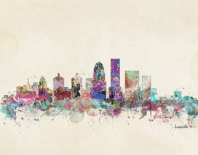 Louisville Kentucky Art Print by Bri B