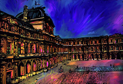 Painting - Louvre, Paris by DC Langer