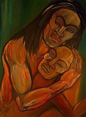 Love Embraces The World  Original by Cindy MILLET