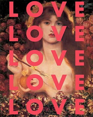 Digital Art - Love Love Love Print by Georgia Fowler