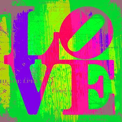 Love Philadelphia Print by Brandi Fitzgerald