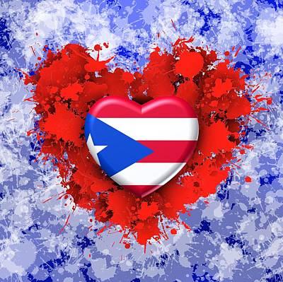 Puerto Rico Digital Art - Love Puerto Rico by Alberto RuiZ