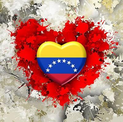 Patriot Digital Art - Love Venezuela by Alberto RuiZ