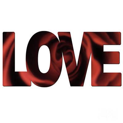 Photograph - Love Word Art by Toula Mavridou-Messer