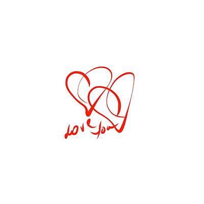Digital Art - Love You by Cristina Stefan