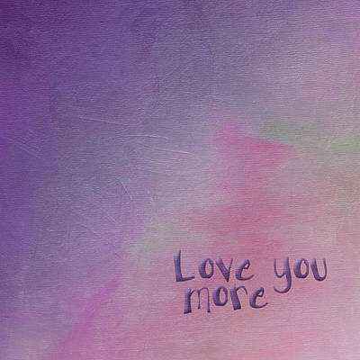 Painting - Love You More by Bonnie Bruno