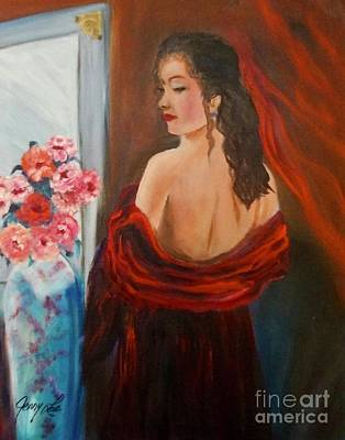 Painting - Lovely In Red by Jenny Lee
