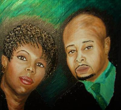 Keenya Woods Painting - Lovers And Friends by Keenya  Woods