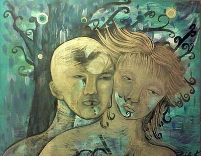 Painting - Lovers by Michaela Kraemer