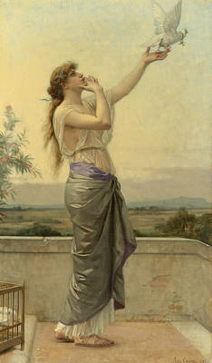 Alexandre Cabanel Painting - Love's Messenger by Alexandre Cabanel