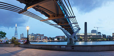 Piano Photograph - Low Angle View Of Millennium Bridge by Panoramic Images