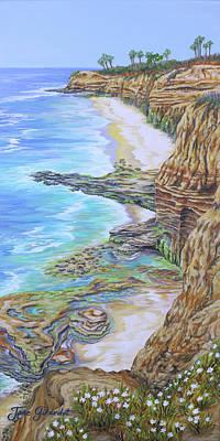 Low Tide Sunset Cliffs Art Print