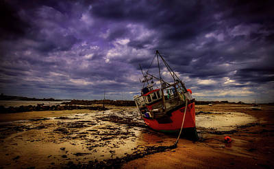 Photograph - Low Tide Sunset - Guernsey England by Bobbeeez