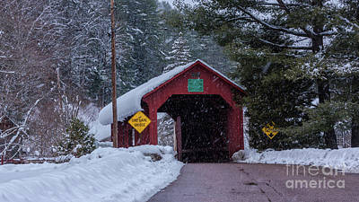 Photograph - Lower Covered Bridge by New England Photography