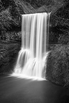 Photograph - Lower South Falls 2 Black And White  by John McGraw