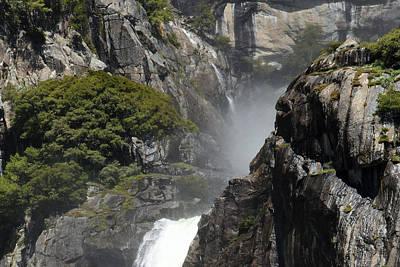 Photograph - Lower Yosemite Falls by Harvey Barrison