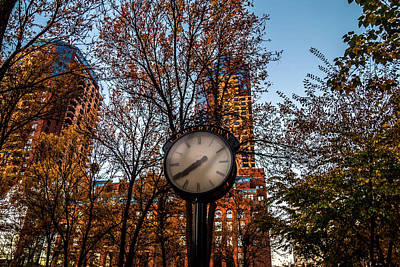 Lowertown Photograph - Lowertown Clock by Nick Peters
