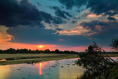 Photograph - Luangwa River Sunset by Fran Gallogly